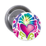groovy heart wave pins