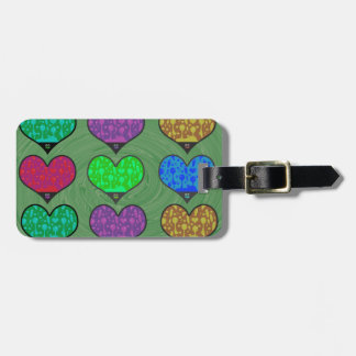 Groovy Hearts of Lava Tag For Luggage