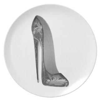 Groovy High Heel Stiletto Shoe Art Plate