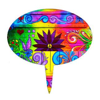 groovy hippie cake pick