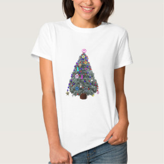 Groovy Hippie Christmas Tree Shirt