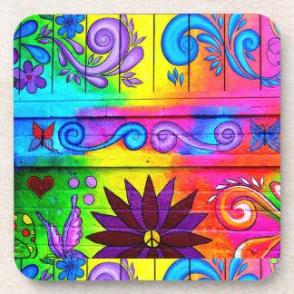 groovy hippie coasters