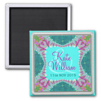 Groovy Hippie Happy Save the Date Magnet