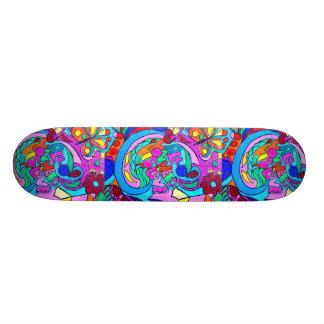 groovy hippie love skateboard