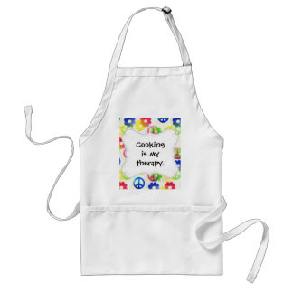 Groovy Hippie Peace Signs Flower Power Sparkle Aprons