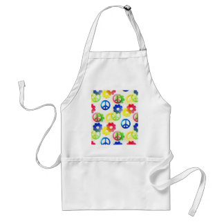 Groovy Hippie Peace Signs Flower Power Sparkles Aprons