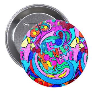 groovy hippie style love button
