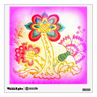 groovy hippie style pink palm tree decal wall stickers