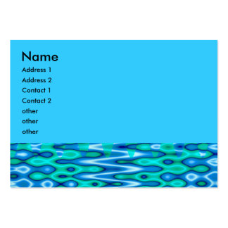 groovy horizon blue business cards