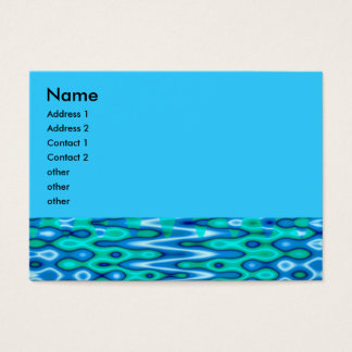 groovy horizon blue business card