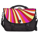 Groovy Hot Pink Red Yellow Orange Stripes Pattern Commuter Bags
