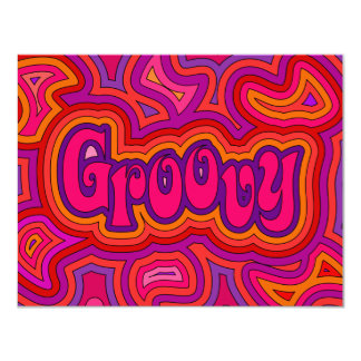 "Groovy Invitation/Annoucement 4.25"" X 5.5"" Invitation Card"
