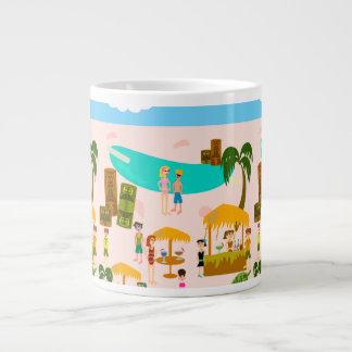 Groovy Jet Set Pool Party Large Coffee Mug