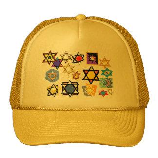 Groovy Jewish Stars Happy Hannukah! Trucker Hats