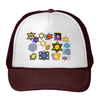 Groovy Jewish Stars Happy Hannukah! Hat