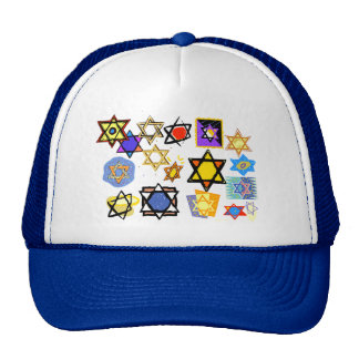 Groovy Jewish Stars Happy Hannukah! Hats