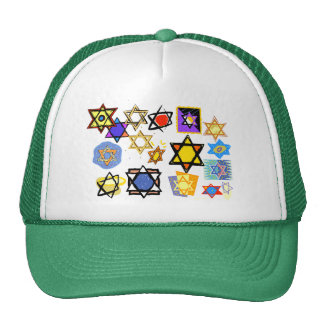 Groovy Jewish Stars Happy Hannukah! Trucker Hat