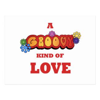 Groovy Kind of Love Postcard