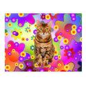 Groovy Kitten. Bengal Cat Postcard (<em>$1.15</em>)