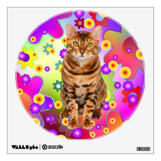 Groovy Kitten. Bengal Cat Wall Sticker