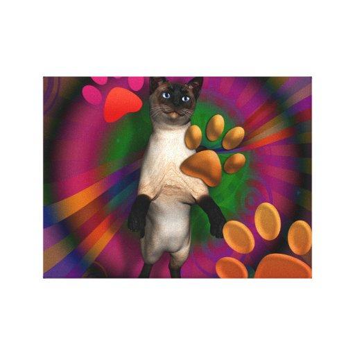 Groovy Kitty Canvas Print