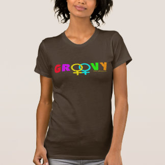 Groovy Ladies Tee - Distressed