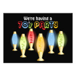 Groovy Lamps 70s Party Announcement