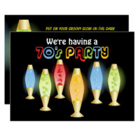 Groovy Lamps 70s Party Invitation