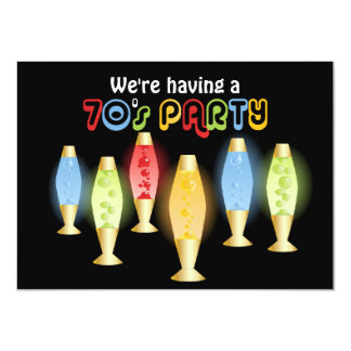Groovy Lamps 70s Party 4.5x6.25 Paper Invitation Card