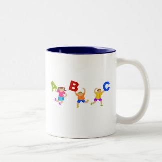 Groovy Letters Two-Tone Coffee Mug