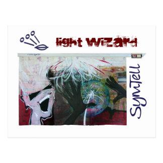 Groovy Light Wizard Postcard