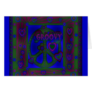 Groovy Love Greeting Card