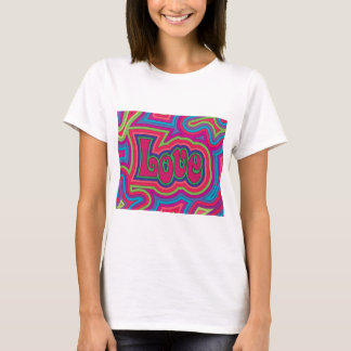 Groovy Love Ladies fitted T-shirt