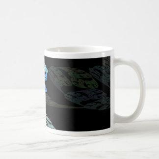 Groovy Luminous Blue Swirls Pattern Shapes Design Mugs