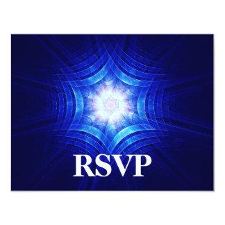 Groovy Magen Bar/Bat Mitzvah RSVP 4.25x5.5 Paper Invitation Card