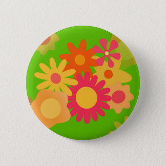 groovy mod floral button
