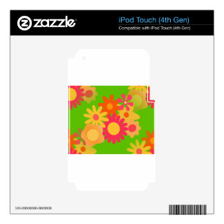 groovy mod floral decals for iPod touch 4G
