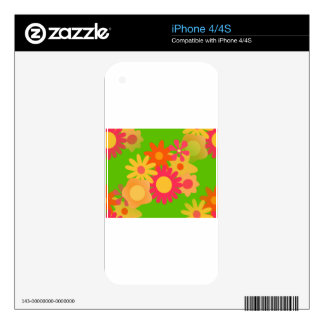 groovy mod floral iPhone 4S decal