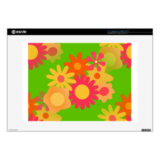 groovy mod floral laptop decal