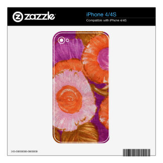 Groovy, Mod Purple Swirl Decals For The iPhone 4S