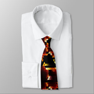 Groovy Modern Triangles Abstract Tie