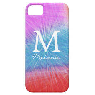 Groovy Monogram  Tie Dye  iPhone 5 Case
