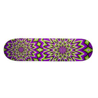 Groovy Moving Pattern Skateboard