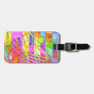 Groovy Musical Abstract Luggage Tag