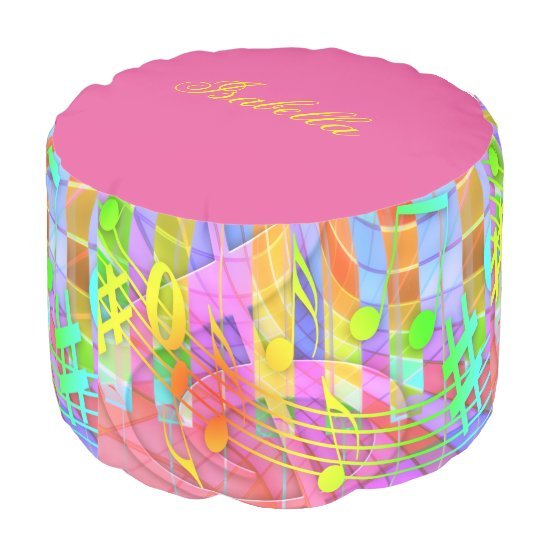 Groovy Musical Abstract Pouf