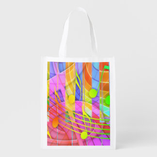 Groovy Musical Abstract Market Tote