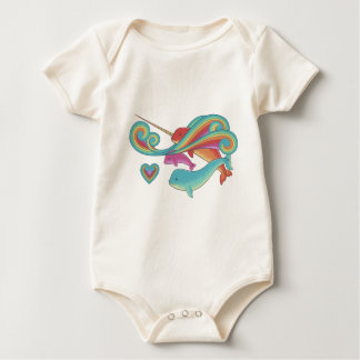 Groovy Narwhal Family Baby Bodysuit