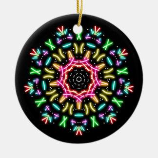 Groovy neon ceramic ornament