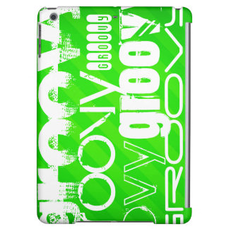 Groovy; Neon Green Stripes Cover For iPad Air