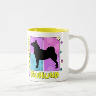 Groovy Norwegian Buhund Two-Tone Coffee Mug